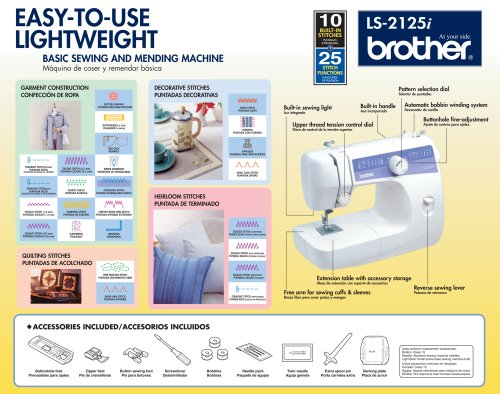 Brother LS40i EasytoUse Everyday Sewing Machine with 40 stitches Mesmerizing How To Use A Sewing Machine Brother