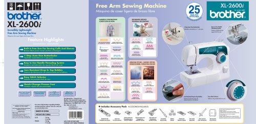 Brother Xl2600i Sew Advance Sew Affordable 25 Stitch Free Arm Sewing M