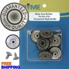 20mm GHQ Grey Silver No-sew Jean Tack Buttons 6 Set