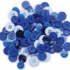 Blumenthal Lansing Favorite Findings Basic Buttons Assorted Sizes, 130/Pkg, Blue
