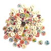 2013newestseller Wholesale Lots 100 Pcs Colourful Round Wood Buttons Sewing Scrapbooking