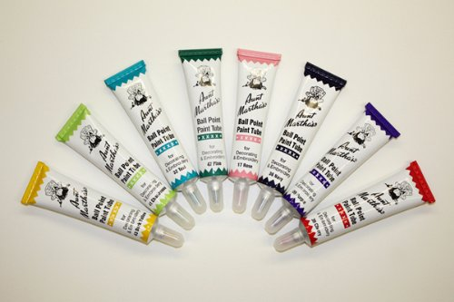Aunt martha s ballpoint pack embroidery paint jewel colors