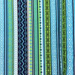 """Aztec Print Fabric Cotton Polyester Broadcloth By The Yard 60"""" inches wide (Blue)"""