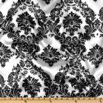 1 X 58'' Wide Flocked Damask Taffeta / $2.35 Fabric By The Yard