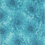 "Hello Dahlia by Herbie for Wilmington Prints Fabric ~ Teal Blue Dahlia Flowers Texture Fabric ~ HALF YARD ~ Patt: 99122 Color: 474 ~ Dahlia Print Quilt Fabric 100% Cotton 45"" Wide - Great Blender!"