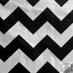 Big Chevron Black Poly Cotton 60 Inch Fabric By the Yard (F.E.)