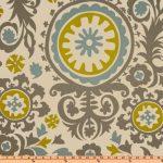Premier Prints Suzani Summerland/Natural Fabric