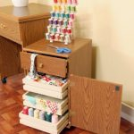 Arrow Sewing Cabinets 800 Suzi, Four Drawer Sewing Storage Cabinent, Oak