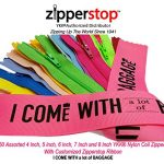Zipperstop Wholesale YKK®- 50 Assorted 4 Inch, 5 Inch, 6 Inch, 7 Inch and 8 Inch Nylon Coil Zippers YKK® #3 Skirt & Dress Zippers Closed Bottom Made in USA with Customized Zipperstop Ribbon - Crafter's Special