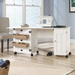 Sauder Sewing Craft Cart in Soft White
