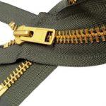 "Sale 30"" Extra Heavy Duty Jacket Zipper (Special Custom) YKK #10 Brass Separating ~ Color 567 Olive Green (1 Zipper/pack)"
