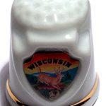 Wisconsin State Souvenir Collectible Lpco Thimble