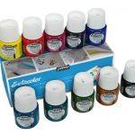 Pebeo Setacolor Light Fabrics Paint Set, Cardboard Box of 10 Assorted 45-Milliliter Jars