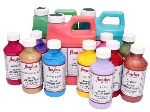 Angelus Acrylic Leather Paint 4oz Cream