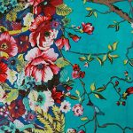 """Blue Indian Fabric Cotton Material 44"""" Wide Designer Fabric For Sewing Craft Fabric By 1 Yard"""