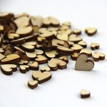 Raylinedo Mixed Size Pure Color Small Heart Shaped Wooden Buttons Crafting Sewing DIY Approx 150 PCS
