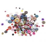 "Scrambled Assortment Bag of Buttons for Arts & Crafts, Decoration, Collections, Sewing, and more! Different Colors and Size from 3/8"" to 1.5"" (100 Pack) by Super Z Outlet®"