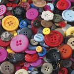 School Smart Craft Buttons - Assorted Sizes - 1 pound - Assorted Colors