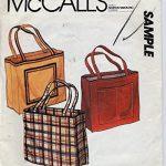 McCall's Sample Sewing Pattern Tote or handbag