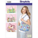 Simplicity Sweet Pea Totes Pattern 1599 Four Unique Handbags and Totes