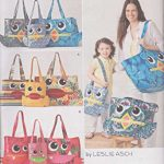 SIMPLICITY 1631 OWL TOTES, PURSE, BAGS (3 SIZES) SEWING PATTERN