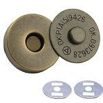 AEXGE™ 6 Sets 18mm Dia. Magnetic Button Clasp Snaps - Great for Sewing, Craft, Clothing, Bag, Scrapbooking, and More (Antiqued Bronze)