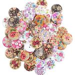"""Crystallove Bulk 2 Holes 30mm Flower Buttons Mixed for Sewing Scrapbooking and DIY Craft (1.2"""" 30pcs)"""