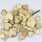 Pack of Mixed Size Natural Wood Color Big Heart Shaped Wooden Crafting Sewing DIY Scarpbooking Buttons Approx 200pcs